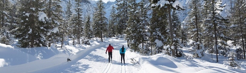 Cross country Skiing a the Wilder Kaiser