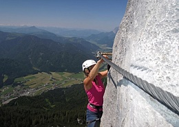 Climbing at the Wilder Kaiser