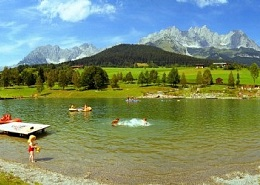 Bathing at the foot of the Wilder Kaiser