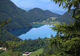 There is one of the most beautiful mountain lakes in Tirol