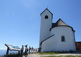 The volley church is the highest pilgrimage church in Austria