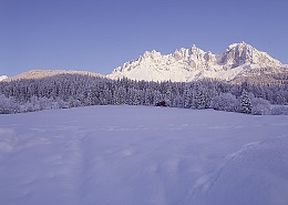 125 prepared winter walking paths at the Wilder Kaiser