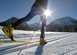 Cross-country skiing at the Wilder Kaiser