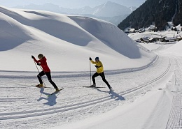 Over 70 kilometres of groomed cross-country trails at the Wilder Kaiser