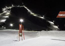 Söll is the largest night skiing area Tyrol