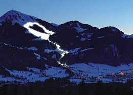 Night skiing in the largest night ski area in Tyrol